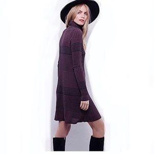 FREE PEOPLE mod winter wonderland sweater dress